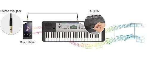 Connectez une source audio externe
