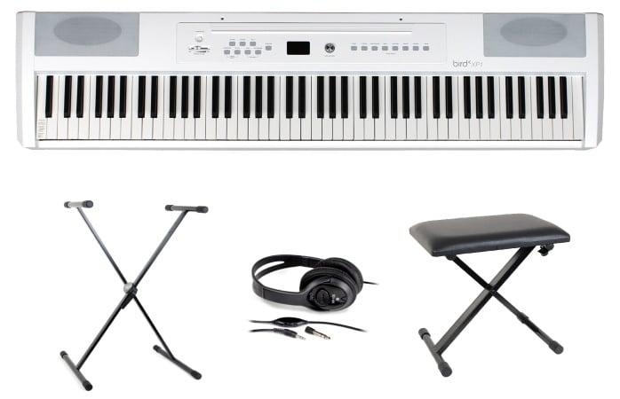Piano pour débuter BIRD INSTRUMENTS XP1 WH PACK siège casque support top 5