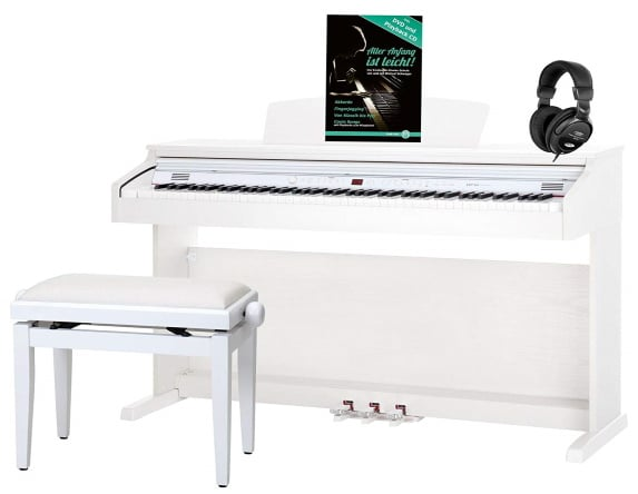 Piano pour débuter CLASSIC CANTABILE DP-50 WM blanc mat top 5