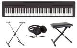 Clavier numérique Yamaha P45 fullpack, instrument de musique avec siège, casque, et support de piano, très léger, facilement transportable, et prix mini
