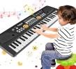 Clavier portable enfant pour apprendre à jouer du piano, petit instrument de musique à 61 touches, avec microphone musical pour débutant